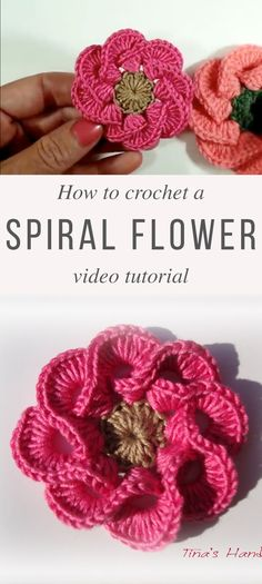 Crochet Flower Patterns Spiral Flower Crochet Pattern Tutorial - This flower crochet pattern is one of the most gorgeous pattern that you will ever see. The stitch technique used on it make this flower extremely beautiful. Beau Crochet, Crochet Puff Flower, Crochet Flower Tutorial, Crochet Flower Patterns, Crochet Flowers, Spiral Crochet, Confection Au Crochet, Unique Crochet, Beautiful Crochet