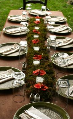 Moss theme wedding