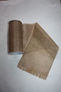 ROLL OF VINTAGE NATURAL HESSIAN BURLAP FABRIC 15cm x 5 Metres WEDDING PARTY | eBay