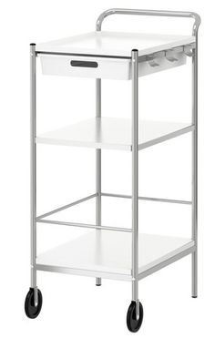 $29.99 at Ikea. Perfect for storing in a closet and rolling out when you're ready to work on a project (wrapping? crafting? photo package prep?)