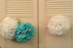 Tissue pom poms i made Tissue Pom Poms, Birthday, Fabric Pom Poms, Birthdays, Tissue Poms, Birth Day