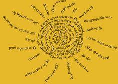 Visual poetry - Det fedeste (gratis) onlineværktøj til digital tegneleg med sprog, tekst og grafik - se vejledningen i dette blogindlæg