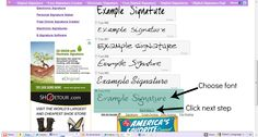 How to get a custom signature for your blog posts