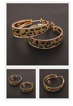 #Fashion Circle Shape Leopard Print Hoop Earrings -  FREE SHIPPING #jewelry #onlineshopping http://krat.im/702