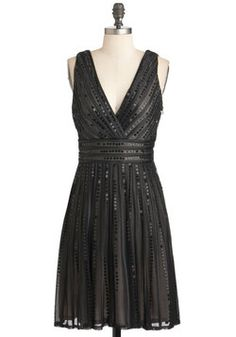 lovely LBD with understated sparkle - Endeavor Lasting Dress, #ModCloth
