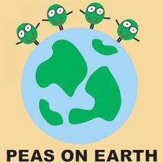 Peas On Earth, cute kitchen art