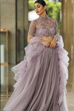 Light Purple Color Party Wear Designer Net Lehenga Choli FL152