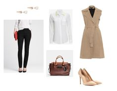 Interview Outfit by stylebyali on Polyvore featuring Equipment, Theory, Banana Republic, Gianvito Rossi, Fallon and Coach