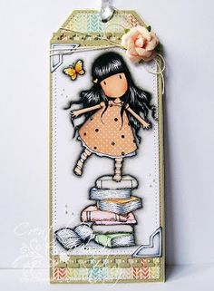 A Sprinkling of Glitter: Gorjuss Bookmark & Tilda - Simon Says Stamp DT