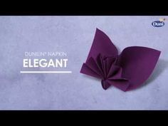 Napkin folding from Duni - Asia - YouTube