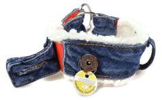 Jeanshalsband einfach Selbernähen mit vielen Bildern erklärt. Upcyclingidee aus alten Jeans. Pfotenprunk.de - Hundesachen Selbermachen.