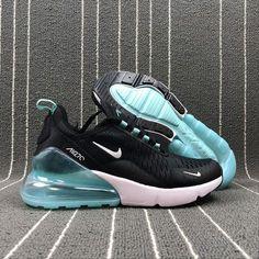 2283bac5c Zero Defect Nike Max 270 Retro Black   Glacier Blue Women Sneaker Shoes  923055-100. Zapatos LindosZapatos Nike MujerZapatillas ...