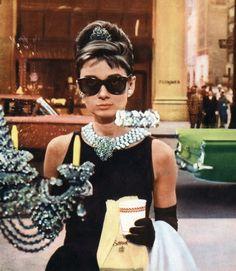 Audrey Hepburn's style: LBD + tons of jewellery.