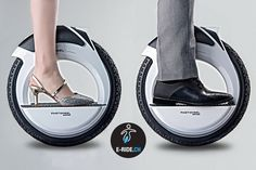 Fastwheel RING - Electric Unicycle of the Future. New Innovative urban personal e-mobility available soon www.e-ride.ch