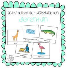 Kleuterjuf in een kleuterklas: Activiteiten met woordkaarten | Thema DIERENTUIN