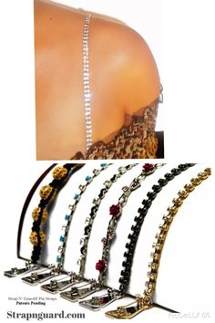 EASY, No Sew. You can add these dazzling dress straps to your prom dress, wedding dress and party dresses within seconds. So Chic & sexy! These trending jewelry straps have innovative safety-pins on hooks for easily adding to your garment. Strap N' Guard offers a variety of beautiful styles to choose from...So easy to add to strapless dress and off-shoulder tops. #diy