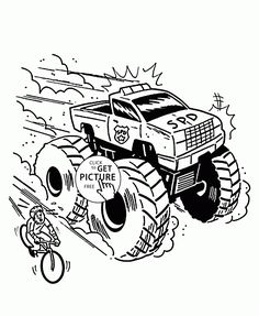 monster truck is very fast coloring page for kids transportation coloring pages printables free