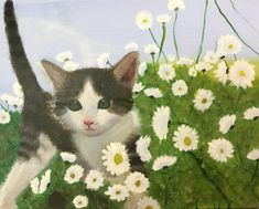 Acrylic painting by young student Sarah C. Sarah C, Art School, Student, Gallery, Painting, Animals, Animales, Roof Rack, Animaux