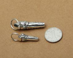 Sterling Silver Skull Whistle Pendant Sterling Skull Whistle