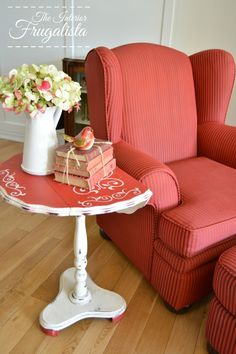 Change The Color NOT The Upholstery {A Painted Wing Chair}
