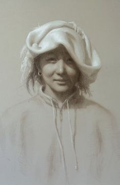 """Susan Lyon 2014 """"smile from a far off village"""" pastel and chalk"""