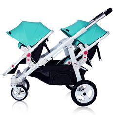 Twin Baby Trolley Flat Front Rear Can Be Lying Folding Portable Two-way Detachable Trolley Shock Absorber Separable Adjustable Stroller Workout, Baby Trolley, Twin Strollers, Travel Systems For Baby, Umbrella Stroller, Baby Shoe Sizes, Baby Swaddle Blankets, Baby Carriage, Parasol