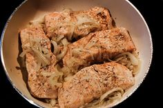 clean eats | Onion Steamed Salmon