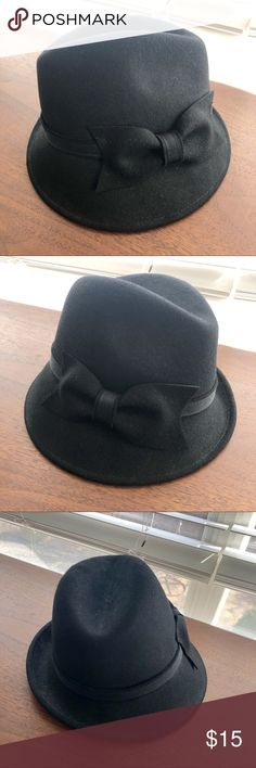 978e52a7e9095c Black Fedora Style Hat with Bow Detail. NWT So classy! Bring out your inner