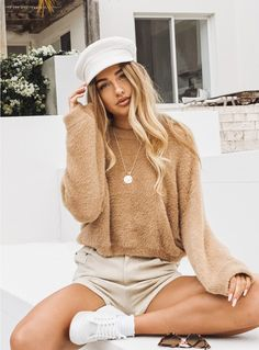 The Pat Jumper - front view with shorts Sammy Robinson, Love Fashion, Winter Fashion, Fashion Outfits, Womens Fashion, Passion For Fashion, Princess Polly, Online Fashion Boutique, Looks Com Tenis