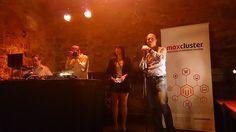 After Show Party - Willkommen, Danksagung an die Sponsoren & Eröffnung des Buffets (v. l. n. r.: DJ, Rico Neitzel, Annett Kretzschmar, Thomas Goletz)