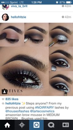 Glitter silver with black