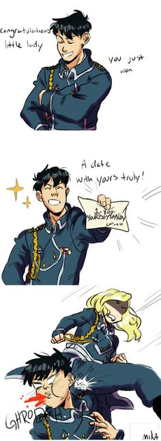 Roy meeting Olivier for the first time by mikasrockbells