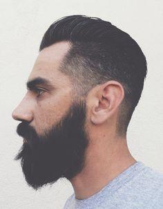 pompadour fade beard - Google Search