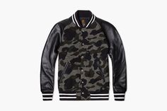 Mr Bathing Ape tweed camo varsity jack