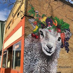 #paonia #Colorado #WesternSlope #NWFValley #NWF #WesternColorado #PaoniaColorado #RefineryPaonia #Elisabethan #ElisabethanClothing #lolaMurals #publicArt #Murals #SheepMural #CrownedSheep #Sheep Public Art, Colorado, Moose Art, Lion Sculpture, Statue, Animals, Peacocks, Aspen Colorado, Animales