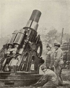 Austrian 12-inch siege howitzer (GW). WW I