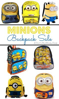 so many choices! I love them all. Minions backpack, Dispicable me Minions bag for school 16 inch for school