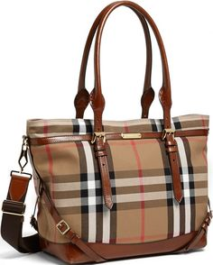 •Website: http://www.cuteandstylishbags.com/portfolio/burberry-dark-tan-diaper-bag/ •Bag: Burberry Dark Tan Diaper Bag