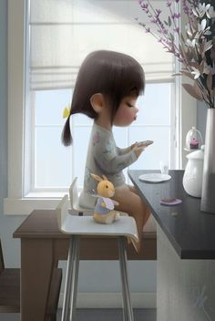 Jason Kim Art is part of Drawings Mother and child - Art And Illustration, 3d Character, Character Concept, Cute Cartoon, Cartoon Art, Cartoon Ideas, Girl Cartoon, Jason Kim, Little Doll