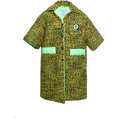 Short Sleeve Coat | Moda Operandi (€2.220) ❤ liked on Polyvore featuring outerwear, coats and short sleeve coat