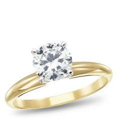 14K Yellow Gold, Diamond Solitaire Engagement Ring, 1.00ctw #SizzlingSummerBling @catalogs