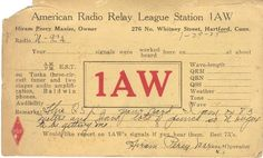 call signs amateur radio - Google Search  My be first Amator-radio QSL ??