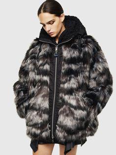 Manteau long en fourrure synthétique imprimé tigre femme