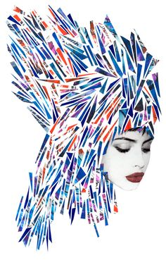 These very beautiful and fashionable mixed media illustrations are the work of German/Japanese artist Niky Roehreke.