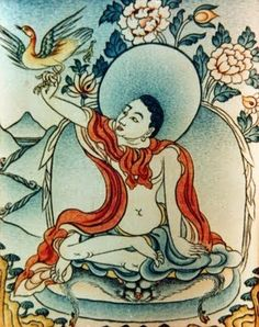 "Khyeuchung Lotsawa.  One of three named by Guru Rinpoche as a reincarnate Mahapandita from India. Became a translator while still very young, hence his name, which means ""boy translator"".  Received teachings from Guru Rinpoche and lived as a ngakpa. Among his siddhis was the ability to summon birds flying in the sky by a gesture of his fingers and give them teachings."