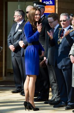 Kate - Reiss Blue Dress East Anglia's Children's Hospices Treehouse Launch 19 March 2012