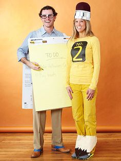 Easy to make adult Halloween costumes.