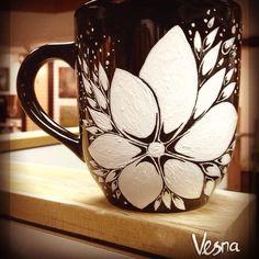 Custom Hand Painted Ceramic Mug - Dishwasher & Microwave Safe  https://www.etsy.com/shop/vesnadelevska
