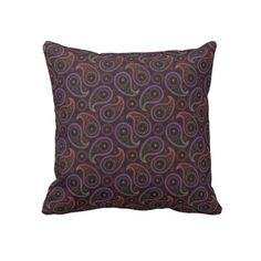 Paisley 34 pillows #zazzle #throwpillows #pillows #cicusvalley