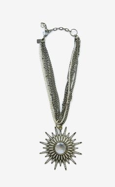 Badgley Mischka Gold And Crystal Necklace